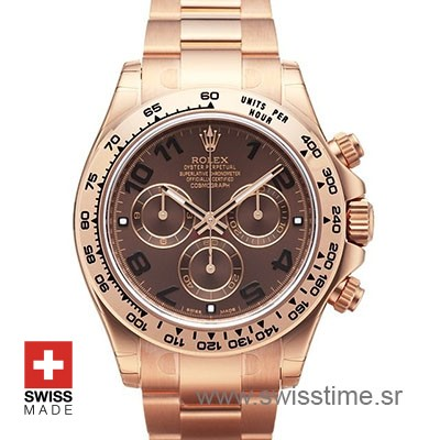 Rolex Daytona Everose Gold Chocolate Dial | Swisstime Watch