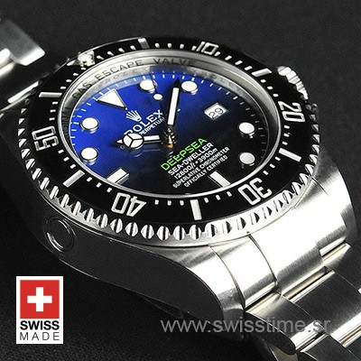 Rolex Deepsea D-Blue Swiss Resplica SS 44mm 116660 Swisstime.srCA