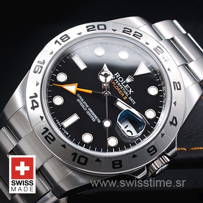 Rolex Explorer II 16570 Black Dial | Swiss Made Replica Watch