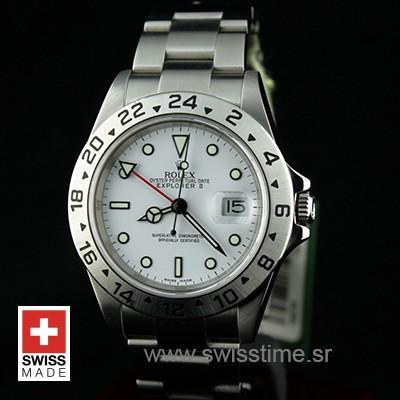 Rolex Explorer II 16570 White Dial   Swiss Made Replica Watch