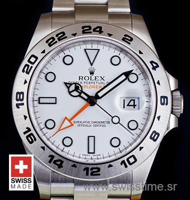 Rolex Explorer II White SS 42mm