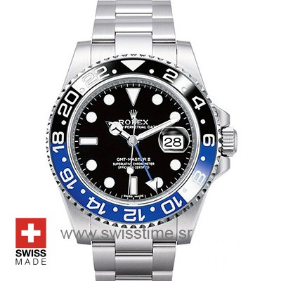 Rolex GMT Master II SS Blue Black Ceramic-0