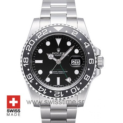 Rolex GMT Master II Black Dial Ceramic Bezel | Swisstime watch