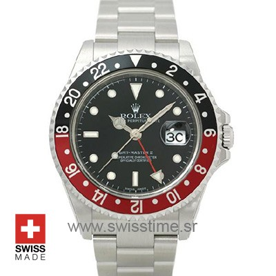 Rolex GMT Master II Red Black Bezel | Swisstime Replica Watch