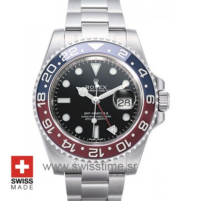 Rolex Gmt Master 2 Pepsi Bezel | Swiss Made Replica Watch