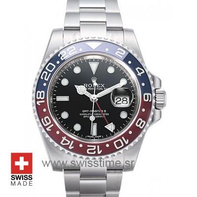 Rolex Gmt Master 2 Pepsi Bezel | Swiss Made Replica Watch