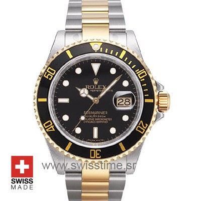 Rolex Submariner 2Tone Black-0