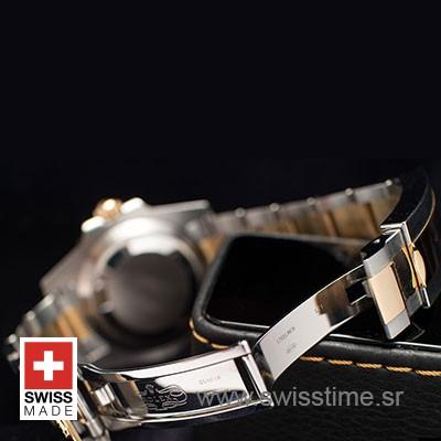 ROLEX SUBMARINER 2-TONE BLACK DIAMONDS CERAMIC 40mm OVERSIZED 116613