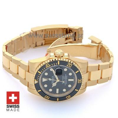 Rolex Submariner Gold Black Dial 40mm | Luxury Replica Watch