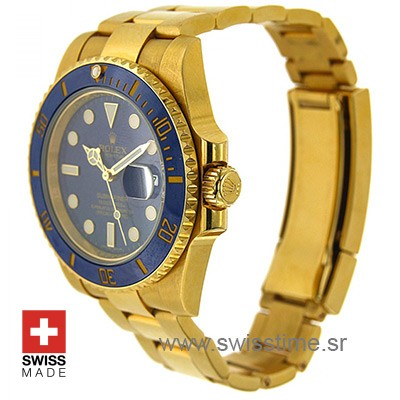 Rolex Submariner Gold Blue Ceramic-2377