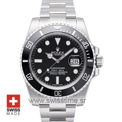Rolex Submariner SS Black Ceramic