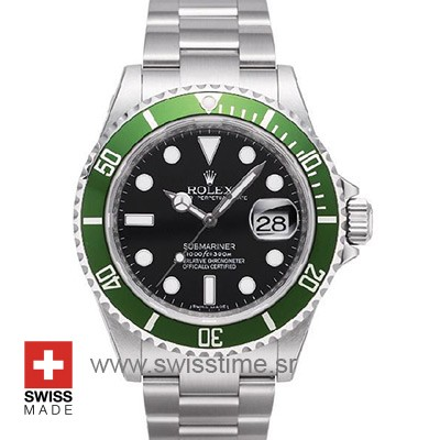 Rolex Submariner Black Face Green Bezel | Swisstime Watch