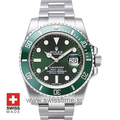 Rolex Submariner SS Green Ceramic-0