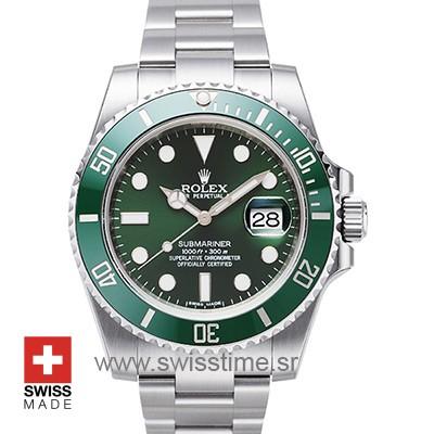 Rolex Submariner Green Dial Ceramic Bezel | Swisstime Watch