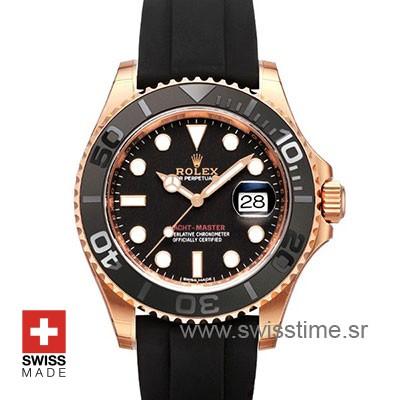 Rolex Yacht-Master Rose Gold | Black Dial Replica Watch
