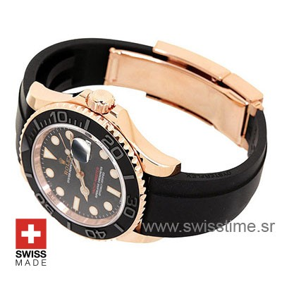 Rolex Yacht-Master Rose Gold | Black Dial Replica Watch