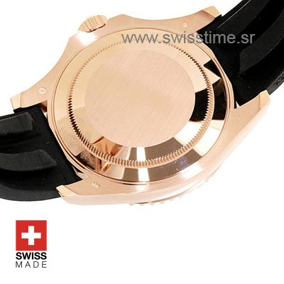 Rolex Yacht-Master Rose Gold   Black Dial Replica Watch