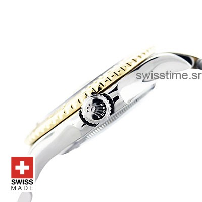 Rolex Yacht Master Two Tone White Dial   Swiss Replica Watch