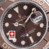 Rolex Yacht Master Two Tone | Chocolate Dial Replica Watch
