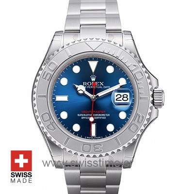 Rolex Yacht Master Stainless Steel Blue Dial | Swisstime Watch