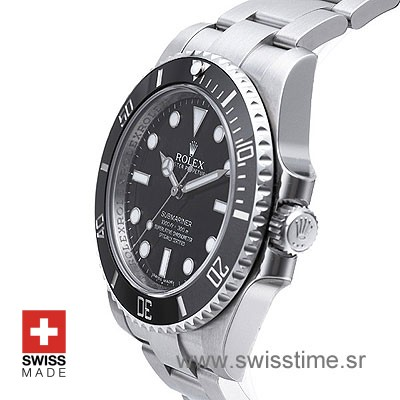 Rolex Submariner SS No Date Black Ceramic