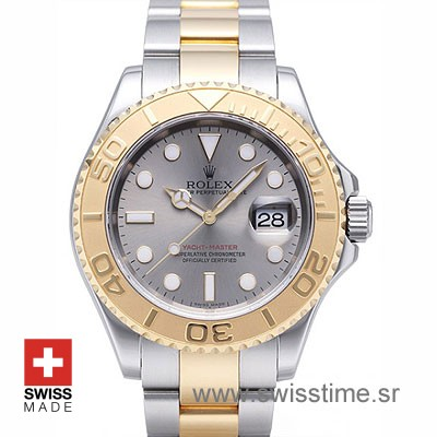 Rolex Yacht Master Two Tone Rolesium Dial | Swisstime Watch