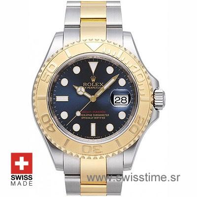 Rolex Yacht Master two tone Blue Dial | Swisstime Replica watch