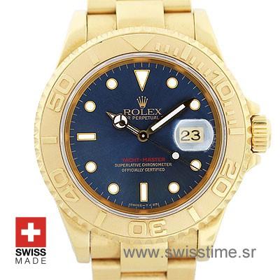 Rolex Yacht Master Gold Blue Dial | Luxury Swiss Replica Watch