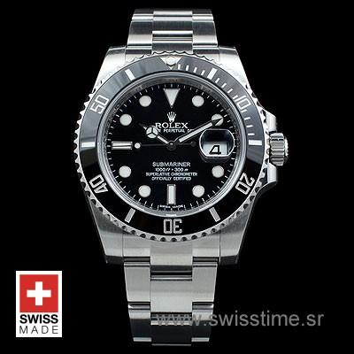 Rolex Submariner SS Black Ceramic