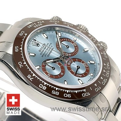Rolex Daytona SS-Platinum Ice Blue Ceramic
