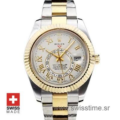 Rolex Sky Dweller Two Tone White Dial | Swiss Replica Watch