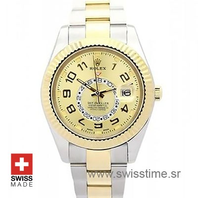 Rolex Sky Dweller Two Tone Gold dial | Swisstime Replica Watch