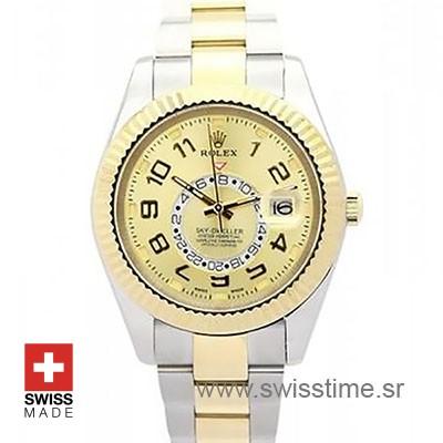 Rolex Sky Dweller Two Tone Gold dial | Swisstime Replica Watch