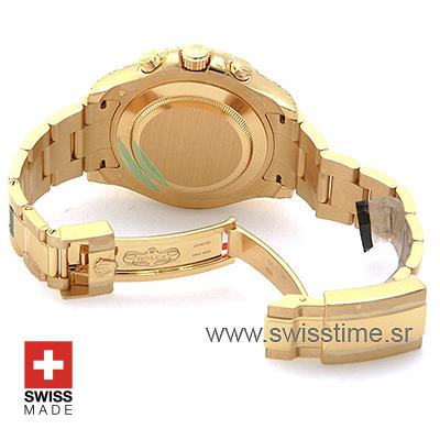 Rolex Yacht-Master 2 White Dial | 18k Gold Replica Watch