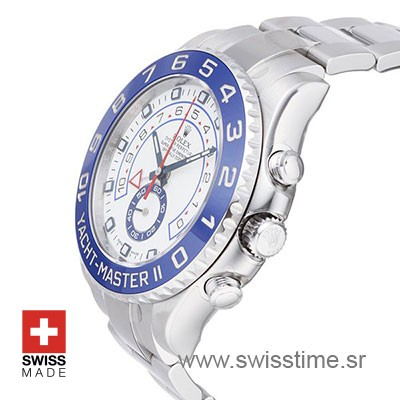 Rolex Yacht Master 2 Steel White Dial | Swiss Replica Watch