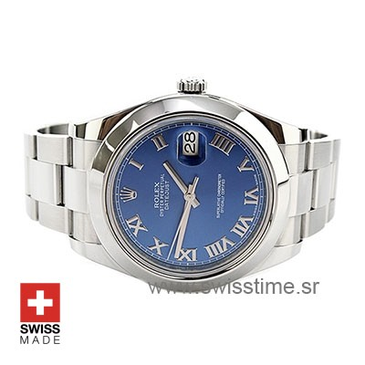 Rolex Datejust II Steel Blue Dial Roman Markers 41mm