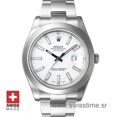 Rolex Datejust 2 White Dial 904L Stainless Steel | Replica Watch