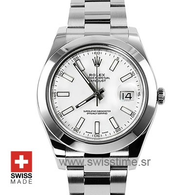 Rolex Datejust 2 White Dial 904L Stainless Steel   Replica Watch