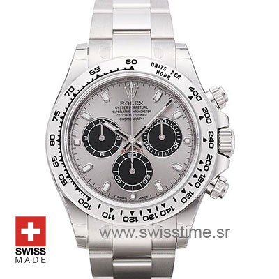 Rolex Daytona 18K White Gold Silver Dial 40mm Best Swiss Replica