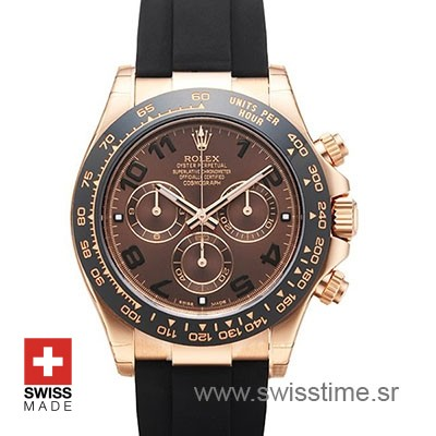 Rolex Daytona Rose Gold Oysterflex Strap | Swisstime Watch