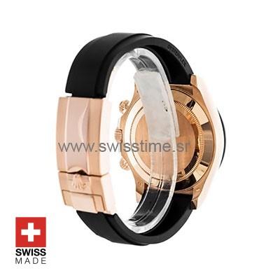Rolex 2017 Daytona 18k Rose Gold Ceramic Bezel Chocolate Dial Rubber Band 40mm Swiss Replica watch