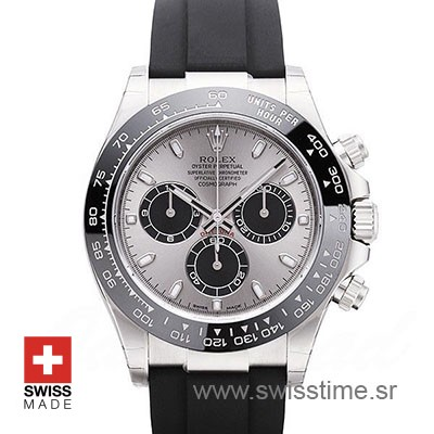 Rolex Daytona White Gold Oysterflex Strap | Replica Watch