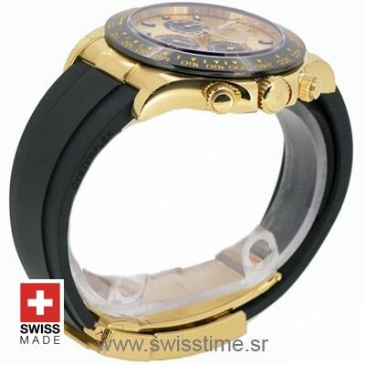 Rolex Daytona Yellow Gold Oysterflex   Swisstime Replica Watch